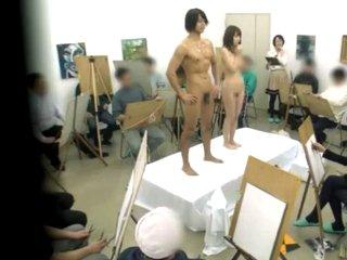 南佳也 ヌードモデルする綺麗な人妻が彫刻のような肉体のイケメン男優さんにモデルをしている最中に挿入されちゃう Pornhub女の子のための無料H動画
